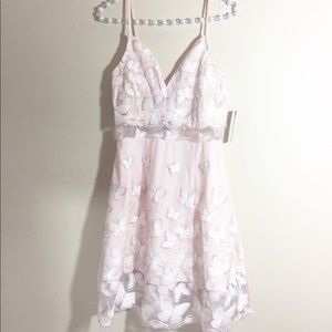 Romeo and Juliet Couture Blush Embroidered Dress